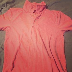 Pink boys polo